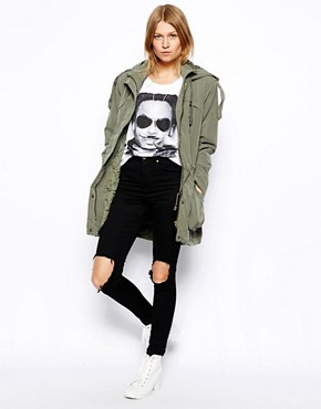 Image 4 ofASOS Popper Parka