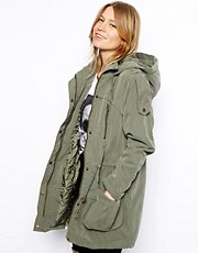 ASOS - Parka con bottoni a pressione