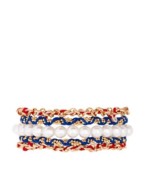 Image 1 ofASOS Nautical Friendship Bracelet Pack