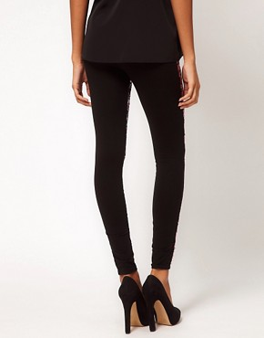 Image 2 ofASOS Premium Leggings with Leopard Sequins