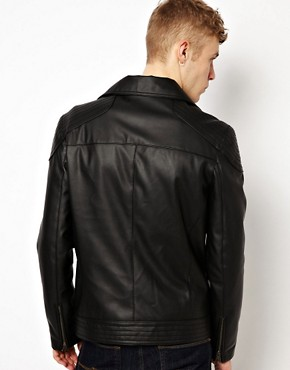 Image 2 ofASOS Faux Leather Biker Jacket