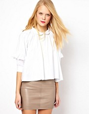 ASOS Swing Shirt With Ruffle Sleeves