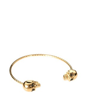 Image 1 ofRiver Island Double Skull Skinny Bangle