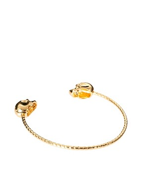 Image 2 ofRiver Island Double Skull Skinny Bangle
