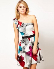 Miss Sixty Faith Print Skater Dress