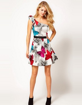 Image 4 ofMiss Sixty Faith Print Skater Dress