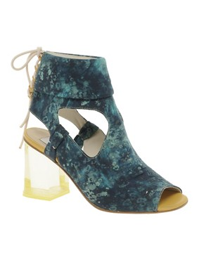Image 1 ofB Store Mila 3 Liberty Print Heeled Sandal