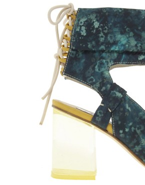 Image 2 ofB Store Mila 3 Liberty Print Heeled Sandal