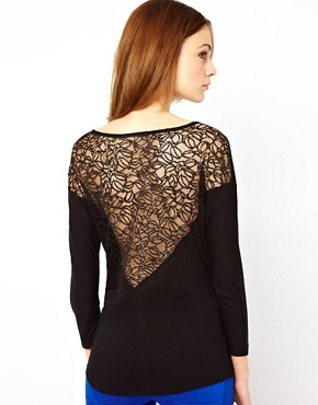 Image 1 ofWarehouse Lace Yoke Back Top