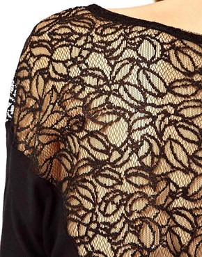 Image 3 ofWarehouse Lace Yoke Back Top