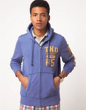 Image 1 ofHilfiger Denim Otter Zip Through Hoodie