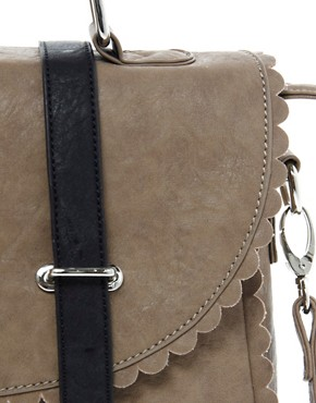 Image 4 of ASOS Scallop Detail Satchel Bag
