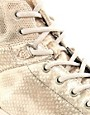 Image 2 ofDiesel Invasion Metallic Hi-Top Trainers