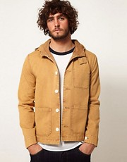 ASOS Hooded Jacket With Acid Wash