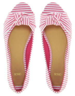 Image 3 ofASOS LEMONADE  Ballet Flats with Peep Toe