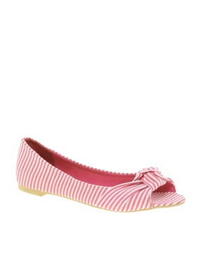 Image 1 ofASOS LEMONADE  Ballet Flats with Peep Toe