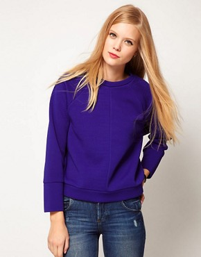 Image 1 ofASOS Sweatshirt Oversized Waffle