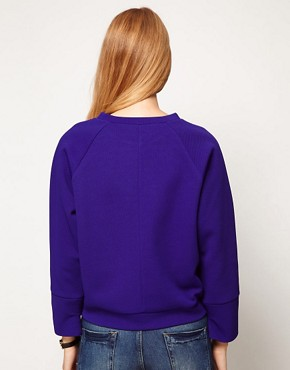 Image 2 ofASOS Sweatshirt Oversized Waffle