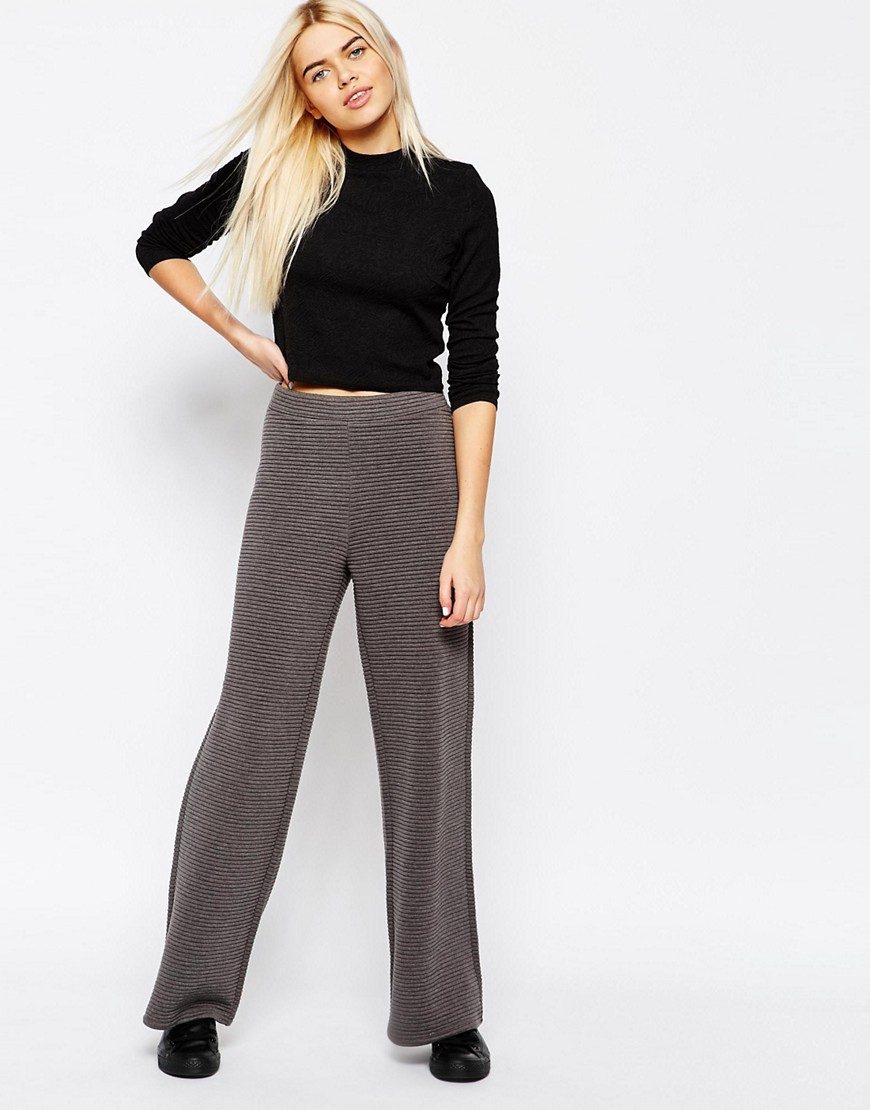 monki-ribbed-wide-leg-trousers-grey