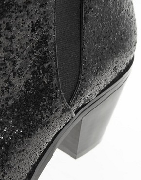 Image 3 ofFaith Sepia Black Glitter Ankle Boots