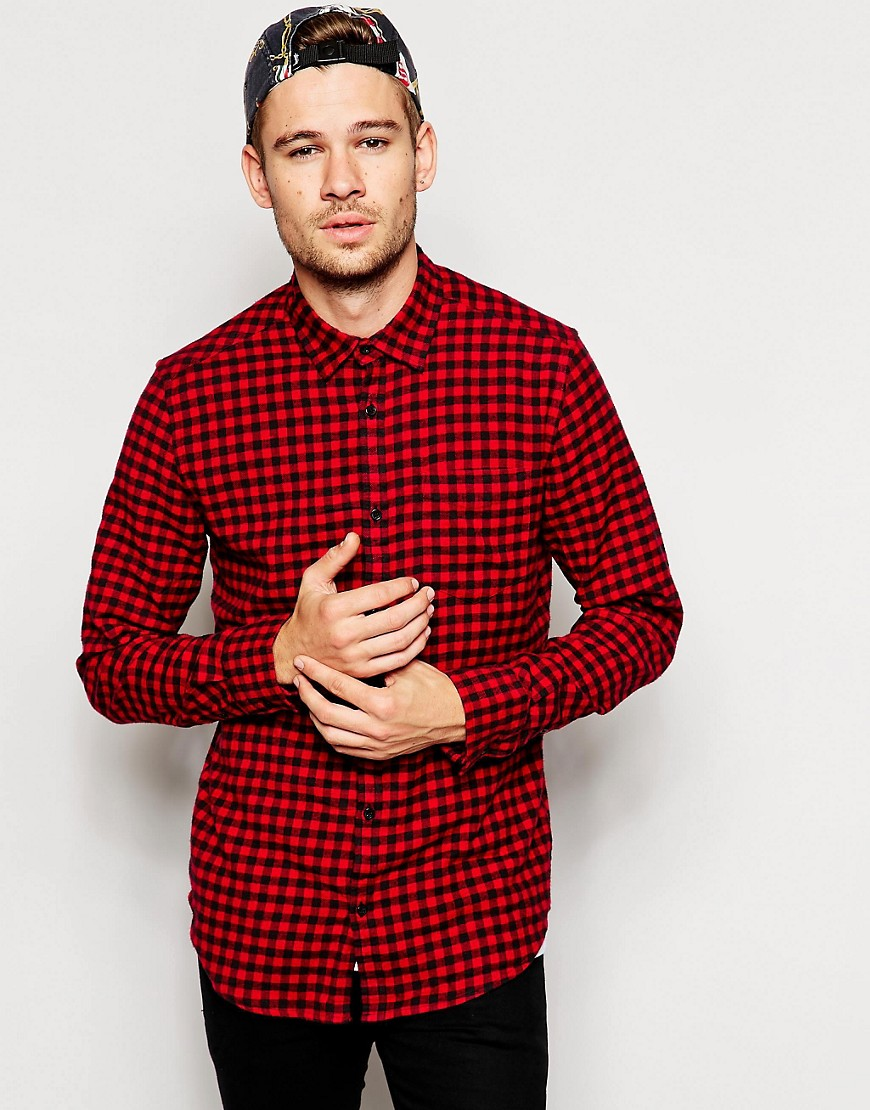 Image 1 of River Island Shirt In Gingham Print