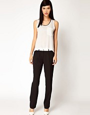 Antipodium Platform Trousers with Leather Waistband