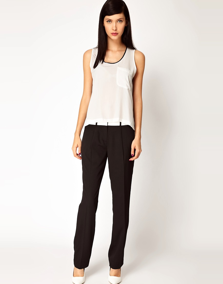 Image 1 of Antipodium Platform Trousers with Leather Waistband
