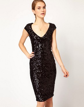 Image 1 ofFrench Connection Sequin Midi Dress