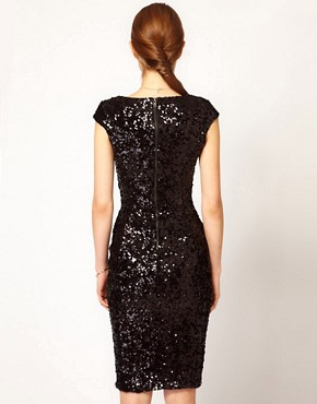 Image 2 ofFrench Connection Sequin Midi Dress
