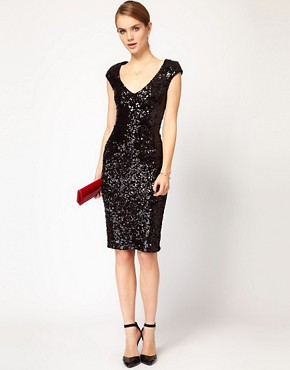 Image 4 ofFrench Connection Sequin Midi Dress