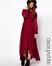 ASOS PETITE Maxi Dress With Embroidered Waist Panel