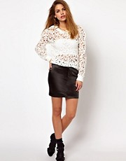 Glamorous Mini Skirt In High Shine