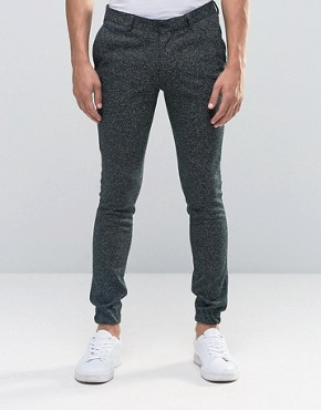 ASOS Super Skinny Smart Joggers In Green