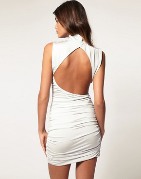Image 1 ofASOS Bodycon Dress with Cut Out Back
