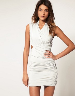 Image 2 ofASOS Bodycon Dress with Cut Out Back