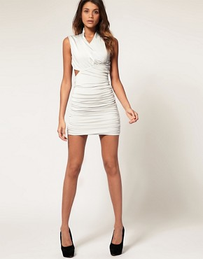 Image 4 ofASOS Bodycon Dress with Cut Out Back