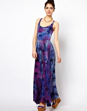 Image 2 ofPaprika Tie Dye Maxi Dress with Lattice Back