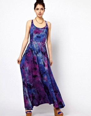 Image 4 ofPaprika Tie Dye Maxi Dress with Lattice Back