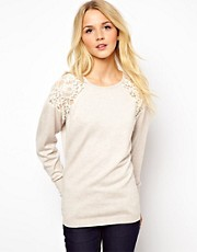 ASOS Sweater With Lace Shoulder Inserts