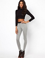 ASOS High Waist Leggings With Elastic Waist detail