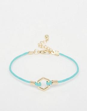 ASOS Clean Hexagon Cord Bracelet