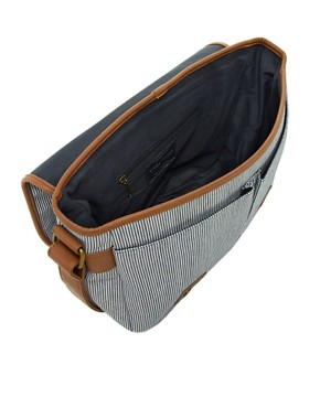 Image 2 ofRiver Island Stripe Messenger Bag
