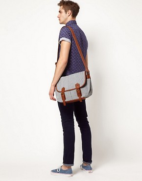 Image 3 ofRiver Island Stripe Messenger Bag