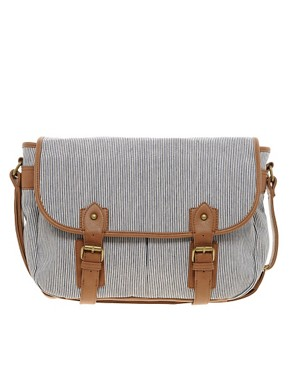 Image 1 ofRiver Island Stripe Messenger Bag