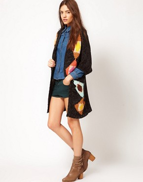 Image 4 ofVero Moda Chunky Patterned Knit Cardigan