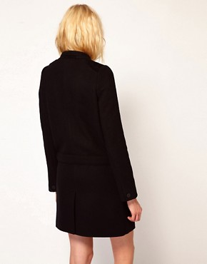 Image 2 ofVanessa Bruno Ath Coat with Belt Detail