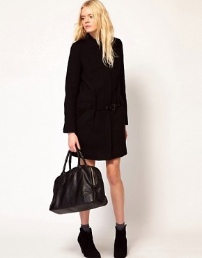 Image 4 ofVanessa Bruno Ath Coat with Belt Detail