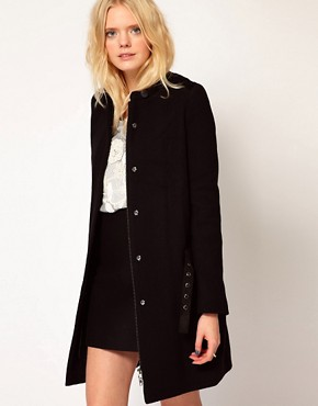 Image 1 ofVanessa Bruno Ath Coat with Belt Detail