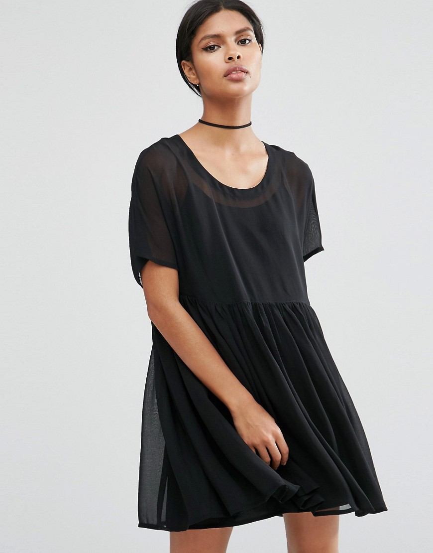 ASOS Smock Dress - Black