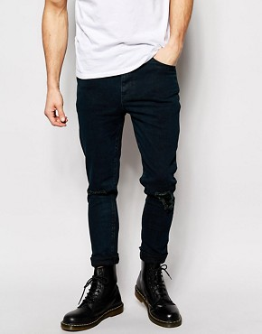 ASOS Super Skinny Jeans With Rip And Repair